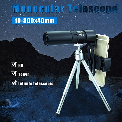 2021 decoration vintage  4K 10-300X40mm Super Telephoto Zoom Monocular Telescope Portable For Camping декор дома новый год✪ω✪