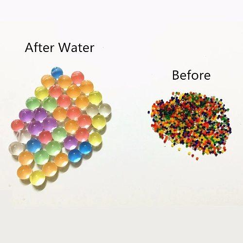 100/500Pcs/bag Interesting Crystal Soil Hydrogel Gel Polymer Water Beads Flower Decoration Polymer Growing Water Balls