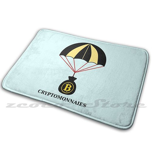 Crystomonnaies! Carpet Water Absorb Non-Slip Door Mat Parachute Virtual Coins Crystomonnaies Parachute Virtual Currencies