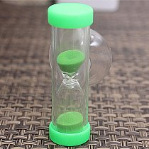 1Pc 2 minutes hourglass children Sand Timer brush  Mini timer creative exquisite small gifts