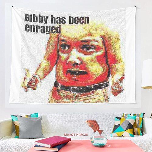 gibby has been enraged tapestry Art Wall Hanging Living Room Decor Craftsmandala Decorative Thin Blanket Yoga