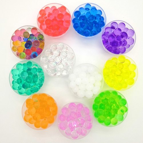 200 pcs plant Crystal Soil Hydrogel Gel Polymer Water Beads Flower/Wedding/Decoration polymer Growing Water Balls Big Home Decor
