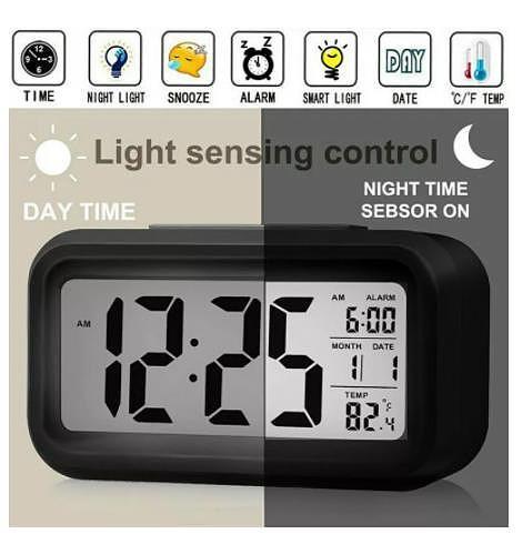 LED Digital Alarm Clock Backlight Snooze Mute Calendar Desktop Electronic Bcaklight Table clocks Desktop clock