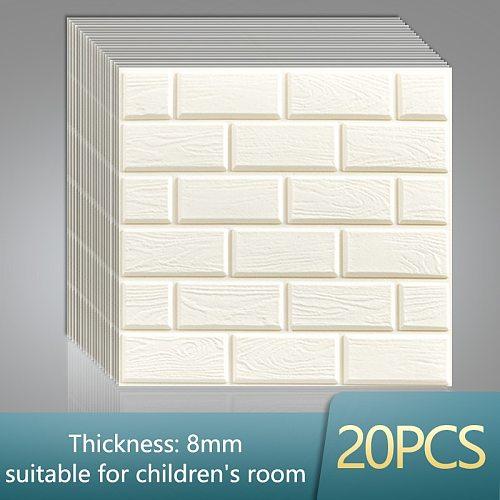3D Wall Stickers Foam Brick Self Adhesive Wallpaper Waterproof Panels Living Room Bedroom Kids Bathroom Home Decor Kitchen TV