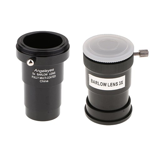 1.25 Inch 5X 3X Barlow Lens Telescope Eyepiece Set for Celestron Astronomy Photography Accessory Fully Coated M42 Thread