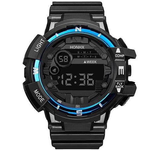 Sport Men Military Watches Led Waterproof Watches Analog Digital Rubber Watches Student Electronic Wrist Clock Zegarek Meski