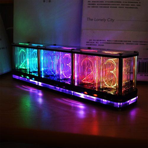 DS3231 Digital LED Alarm Clock Kit Large Font 6-digit Display Electronic Clock Bulk Music Spectrum Display Clock Module DIY