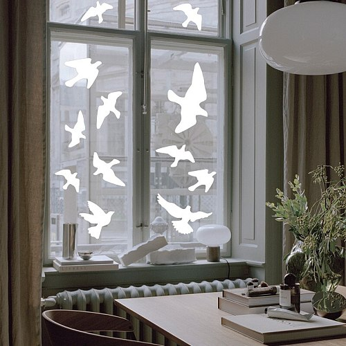26 Pieces Birds Protection Stickers Bird Anti-Collision Window Alert Decals DIY Glass Decoration Modern Home Decor