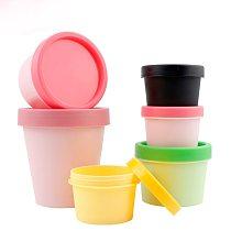 20pcs Empty Container Cream Black Pot Plastic Jar Cosmetic Box Inner Lids White Mask Barrel Packaging Bottle Pink 50g 100g 200g
