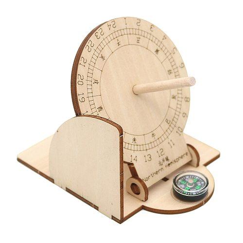 Foldable Equatorial Sundial Clock Child Science Learning Crafts Junior Scientific Model Teaching Aid School Desktop Ornament