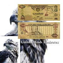 the United Arab Emirates 500 Dirham Banknote UAE Copy Paper Money Colored Commemorative Gold Plated Banknote