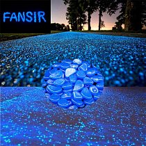 100pcs Glow Pebbles Luminous Stones Glow Home Fish Tank Garden Decoration Luminous Glowing In The Dark Accessory for Gift
