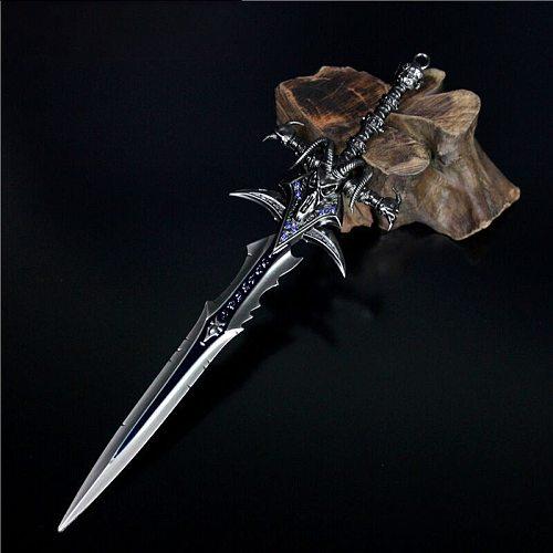 World of Warcraft simulation sword model Frostmourne animation prototype Mini modeling metal uncut blade model sword boy toy