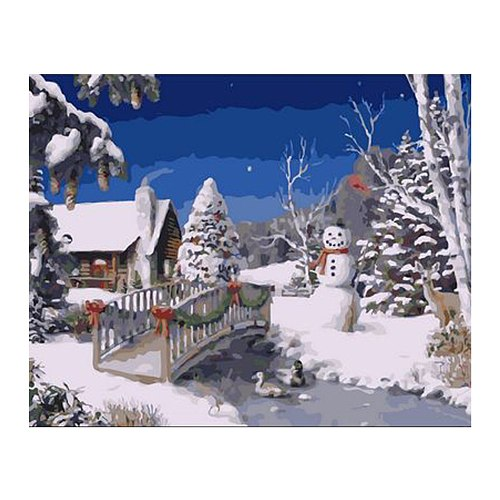 DIY Oil Painting on Canvas Paint by Number Kit Santa Claus Elk Pattern Drawing for Adults Kids Beginner Craft Home Wall Decor