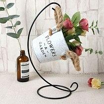 Micro Landscape Iron Shelf Diy Ecological Bottle Ironwork For Home Decoration