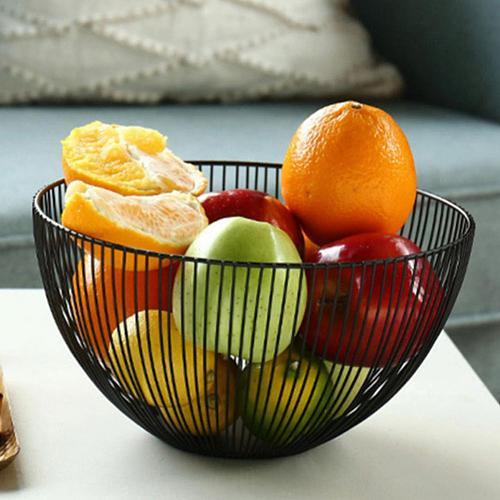 Metal Wire Fruit Vegetable Snack Tray Bowl Basket Kitchen Storage Rack Holder 2020
