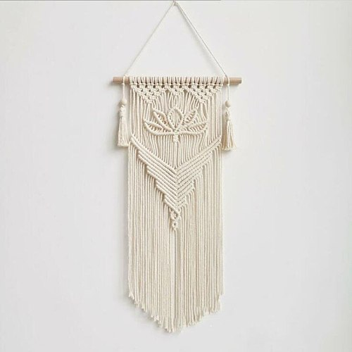Nordic Tapestry Macrame Boho Bohemian Chic Wall Hanging  decoration Cotton Woven Wall Art aesthetic Room decor Room ornaments