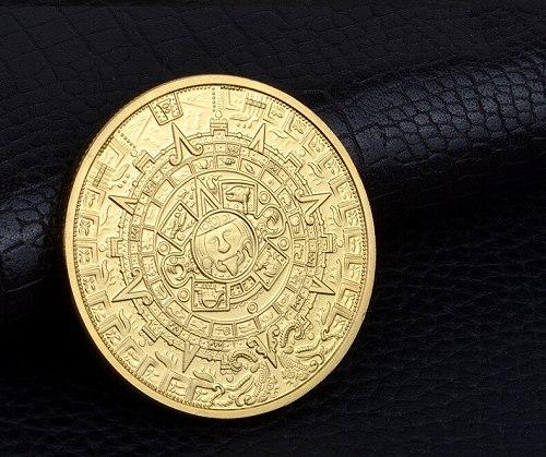 Mayan coin pyramid sundial gold coin American gold coin Mexico Aztec silver coin commemorative coin