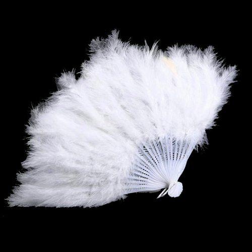 Lolita Feather Folding Fan Japanese Sweet Fairy Girl Dark Gothic Court Dance Hand Fan Art Craft Gift Wedding Party Decoration