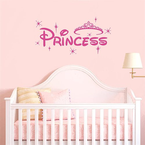 Crown Customized Personalized Name Children Art Home Decor Nursery Kids Room Vinyl Sticker Removable Wall Sticker L149