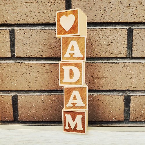 1pcs Personalized Wood Name Blocks Alphabet Baby Custom Letters Numbers Letters Wooden Toy Natural Nursery Home Decoration
