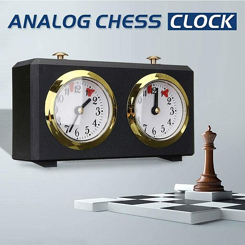 Analog Chess Clock -Mechanical Chess Clocks Garde -Chess Clock Count Up Down Game Accessory Specialty Clocks Tools Gifts