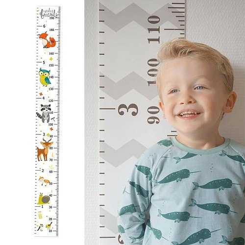 Kids Meter Wall Chart Hanging Height Growth Measuring Ruler Baby Nursery Decor