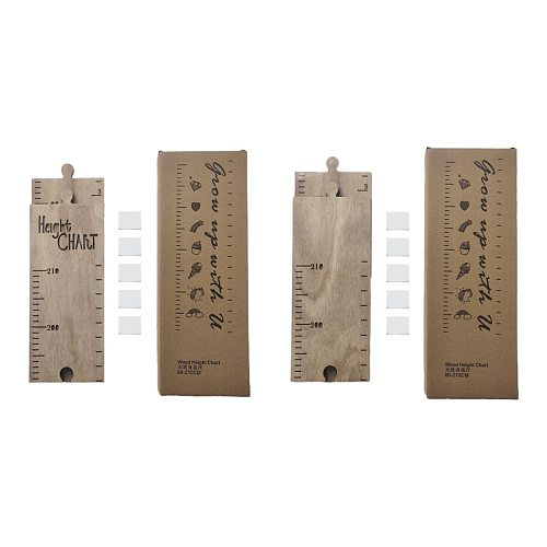 Baby Height Measure Wooden Wall Hanging Ruler Child Kids Growth Chart Bedroom Home Decor Wall Sticker Decorative Props
