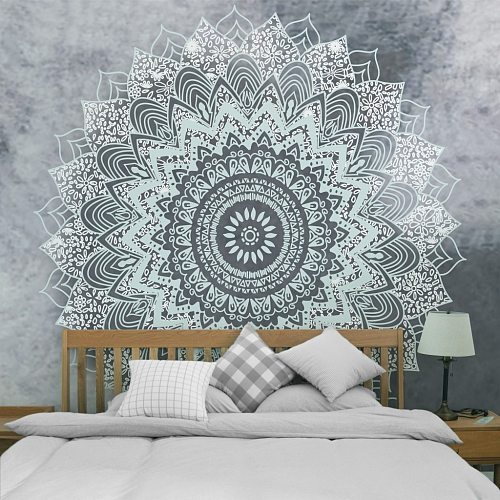 Mandala Tapestry Wall Hanging Carpet Home Decor for Living Room Bedroom Beach Towel Wall Carpets Multifunctional Dust Cover