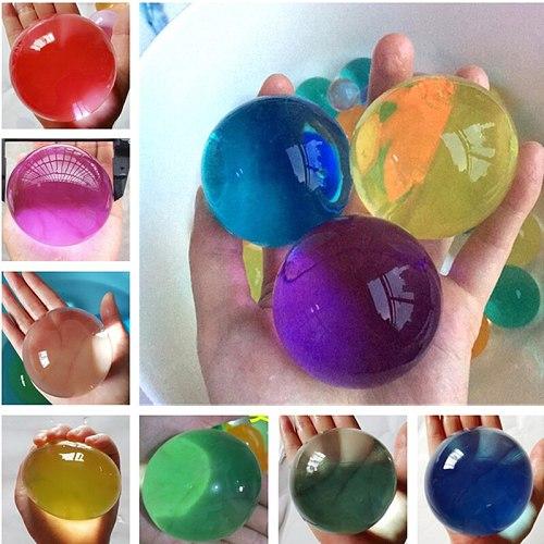 30PCS/bag Water Beads Crystal Soil Hydrogel Balls Growing Gel Ball For Flowers Decorative Wedding Home Decor Kids Children Toy