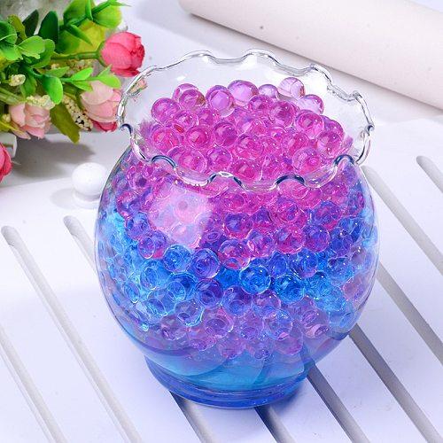 300 pcs/bag Crystal Soil Hydrogel Gel Polymer Water Beads Flower Wedding Decoration polymer Growing Water Balls Big Home Decor