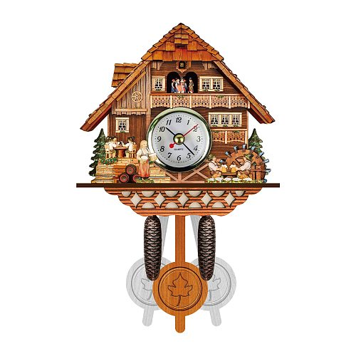 Practical Clock Tree Style Cuckoo Cuckoo Wall Clock Chime Alarm Clock Retro Wooden Living Room Clock Promotional Products