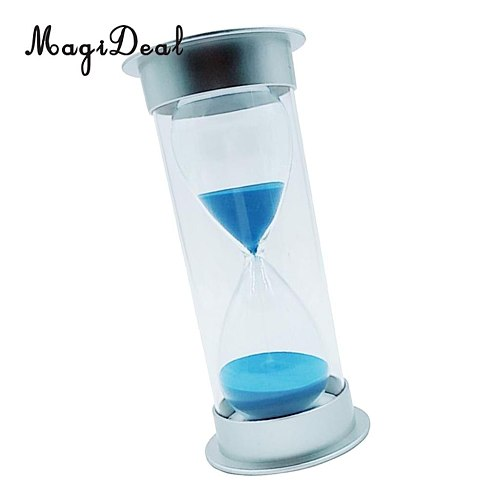 MagiDeal Plastic Sandglass Hourglass Sand Clock Timers Desktop Clock 60 Minutes Blue