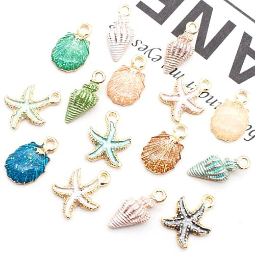 Nice Conch Sea Shell Charms Ocean Pendants Starfish Anklet Bracelet Necklace DIY Handmade Accessories Craft