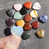 Love Puffy Heart Shape Crystal Gemstones Natural Rose Quartz Love Healing Stone Gemstones Pendant Jewelry Gift Home Decoration