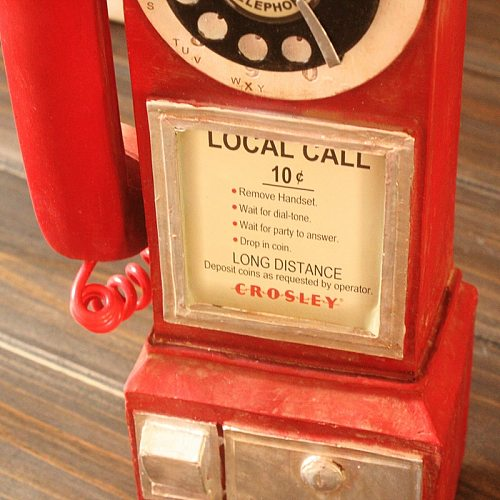New Hot Vintage Rotate Classic Look Dial Pay Phone Model Retro Booth Home Decoration Ornament USJ99