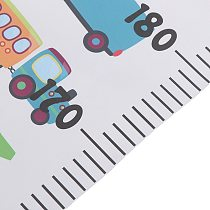 Nordic Children Height Ruler Hanging Canvas Growth Chart Kids Room Wall Decoration
