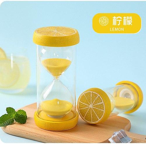 Glass Hourglass Sand Timer Clock Fruit Home Decor Birthday 15/30/60 Minute Love Valentine's Day Gift Ampulheta Reloj De Arena