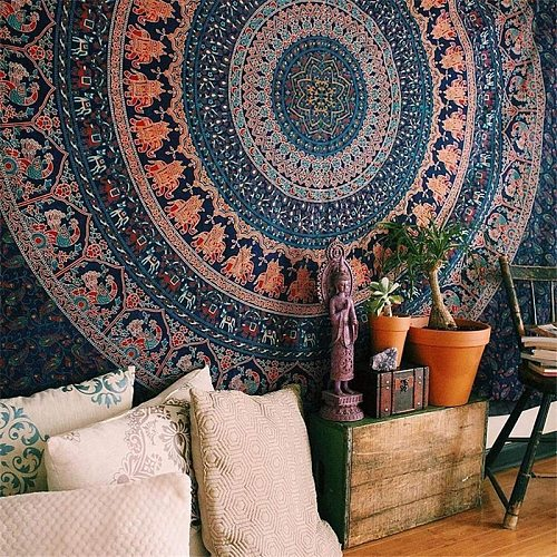 Mandela Wall hanging Tapestry psychedelic pattern yoga throw beach throw carpet Hippie Home Decor mandala Wall Tapestry Blanket