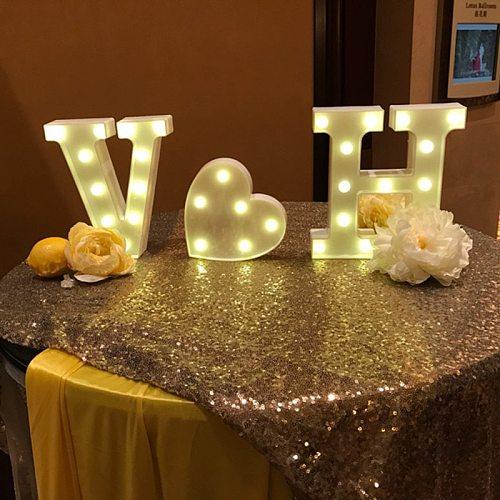 DIY Luminous LED Letter Night Light Creative 26 English Alphabet Number Battery Warm White Lamp Romantic Wedding Party Decor