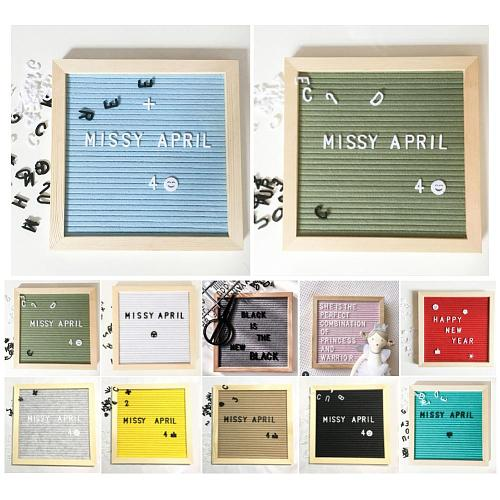 Beautiful  Felt Letter Board Symbols Numbers Characters Message Boards Changeable Panel for  Home,office Restaurant Decoration