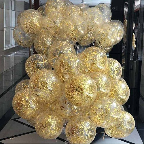 5pcs/lot Shining Confetti Balloon aby Shower Latex Balloons Birthday Party Decorations Adult Wedding Inflatable Ball