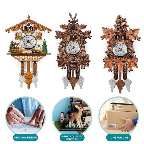 Cuckoo Nordic Retro Clock Time Alarm Clock Home Decoration Clock Vivid Pattern Practical Clock Alarm Clock