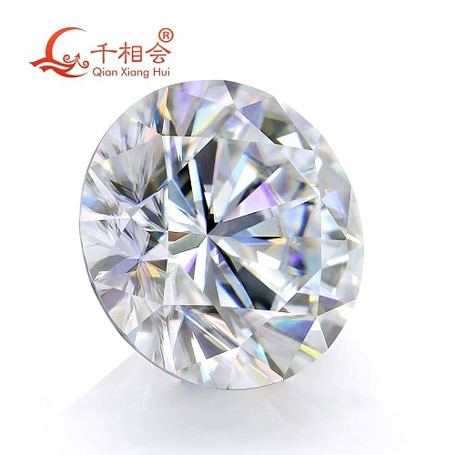 3mm to 12mm DF color white Round Brilliant cut  moissanites loose stone