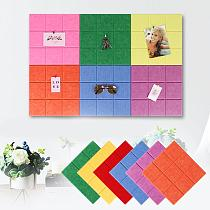 High Quality DIY Solid Color Felt Wall Sticker DIY Plan Photo Board Self adhesive Wall Paper Office Home Decoration