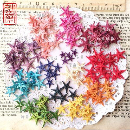 Happy Kiss 50pcs/lot 8 Colors choose Natural Sea Star Wishing Bottle Starfish DIY 0.5-1.5cm small shell adrift  accessories mini