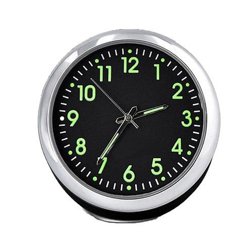 Free Shipping Mini Car Fluorescent Wall Clock Light Quartz Clock Universal Pocket Watch часы настенные