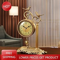 Metal Fashion Table Clock Living Room Creative Electronic Large Table Clock Luxury Standing Sveglia Da Comodino Home Decoration