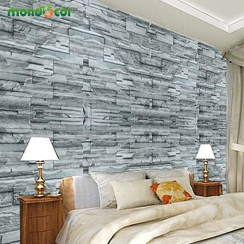 Vinyl 3D Brick Waterproof Wall Sticker for Living Room Bedroom Kitchen Decals Self Adhesive Wallpaper Home Decor Contact Paper