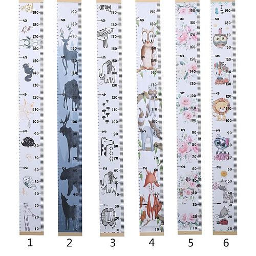Baby Growth Chart Canvas Wall Hanging Measuring Rulers for Kids Boys Girls Room Decoration Nursery Removable Height Growth Chart
